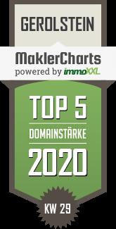 Bismark Immobilien TOP 5 Makler in Gerolstein KW 49 immoXXL MaklerCharts
