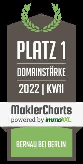 Heinze Immobilien TOP 5 Makler in Bernau bei Berlin KW 05 immoXXL MaklerCharts
