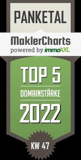 Heinze Immobilien TOP 5 Makler in Panketal KW 47 immoXXL MaklerCharts