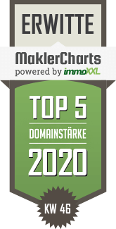 MaklerCharts KW 46/2020 - Homeday GmbH ist TOP-5-Makler in Erwitte
