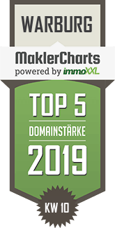 MaklerCharts KW 10/2019 - Sparda-Bank West eG ist TOP-5-Makler in Warburg