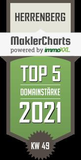 Müller Immobilienservice TOP 5 Makler in Herrenberg  immoXXL MaklerCharts