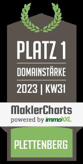 R.B. Makler GmbH TOP 5 Makler in Plettenberg KW 47 immoXXL MaklerCharts