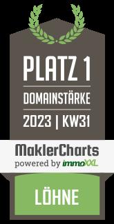Starke Immobilien OHG Bester Makler in Löhne KW 45 immoXXL MaklerCharts